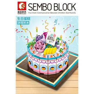 Sensational Sembo Blocks Birthday Cake Model Food Wedding Toys For Kids Birthday Cards Printable Benkemecafe Filternl
