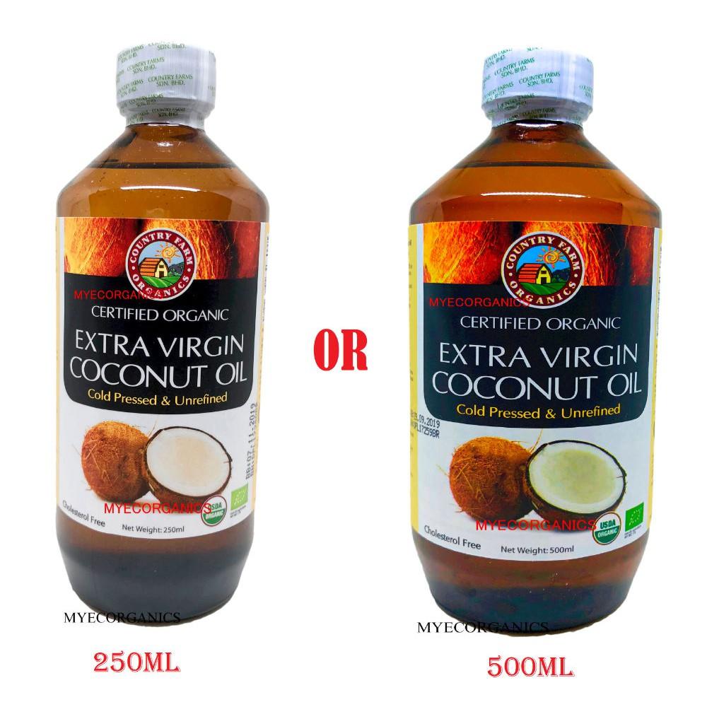 Latest Stock Country Farm Extra Virgin Coconut Oil 250ml Or 500ml Halal Exp 06 2022 Shopee Malaysia