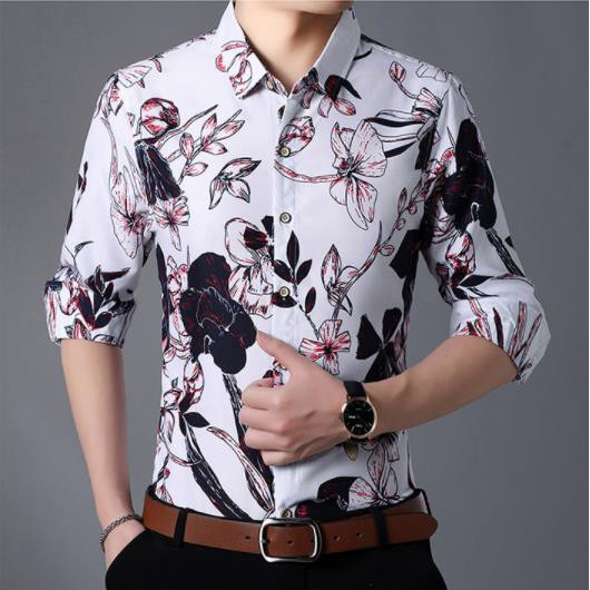 Rrive Mens Shirts Long Sleeve Casual Business Button Up Dress Shirt Top