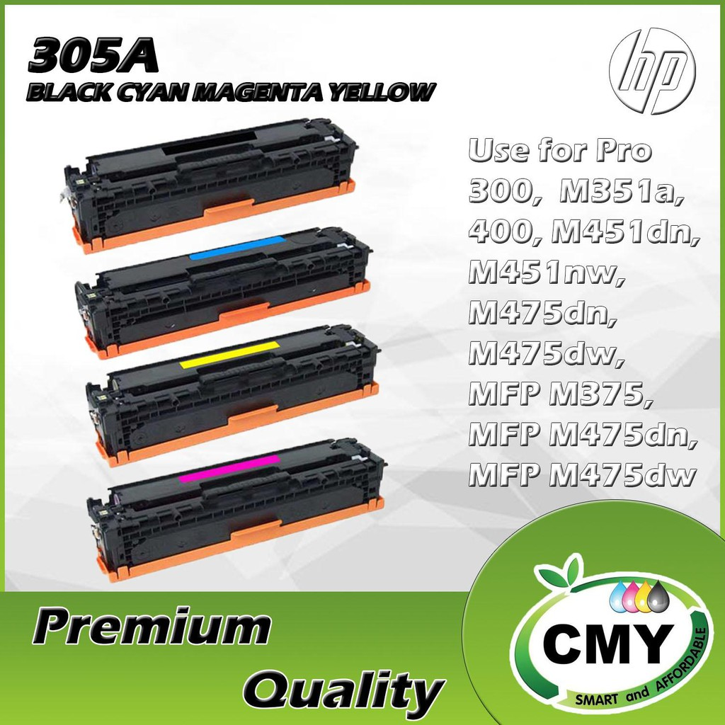 Compatible HP CE410A CE411A CE412A CE413A 305A Black Cyan Magenta Yellow M351 M351a M375 M375nv M451 M451dn M451nw M475