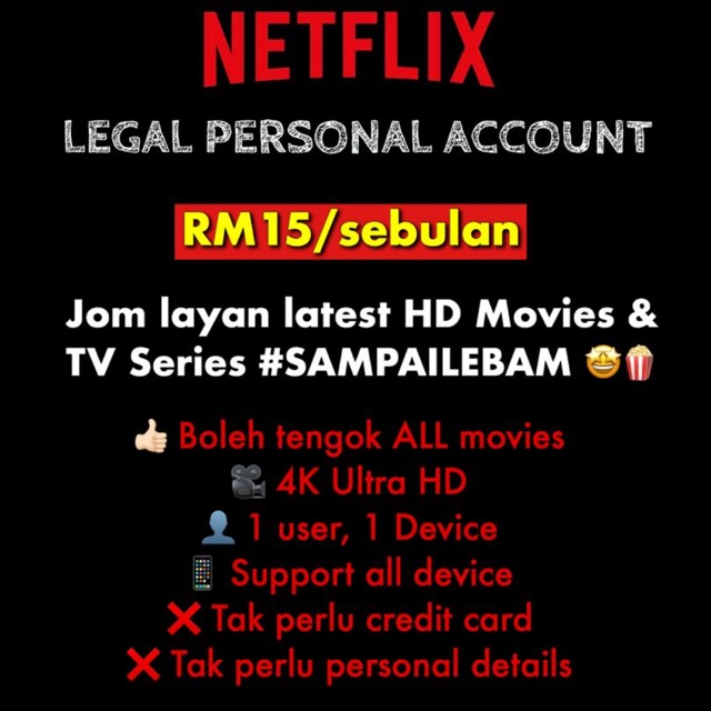 Subscribe To Premium Movie 30 Days Netflix Shopee Malaysia