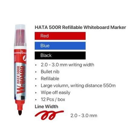 Hata Refillable Whiteboard Board Marker 500R