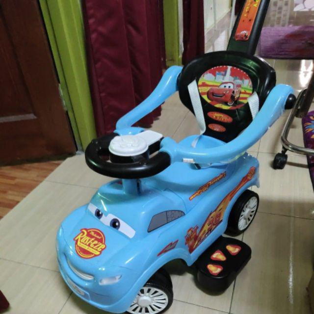 lightning mcqueen ride on car with safety belt music