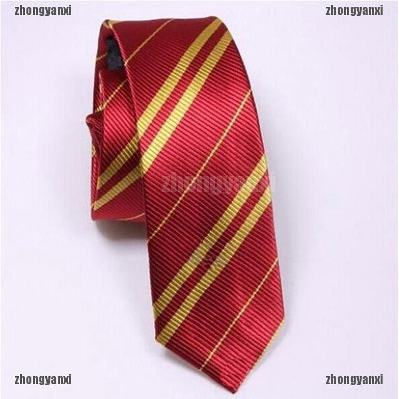 Charm Harry Potter Gryffindor Slytherin Hufflepuff Ravenclaw Necktie Silk Tie ZZ