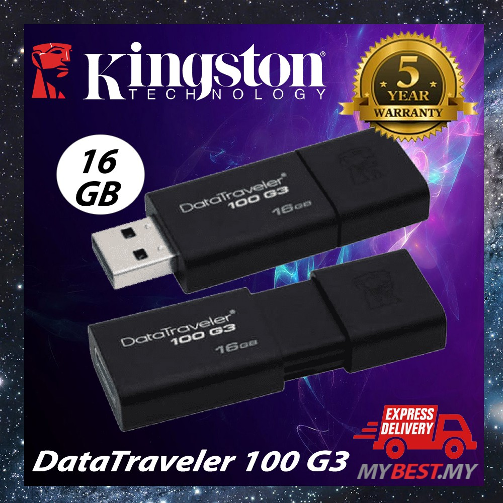 KINGSTON DATATRAVELER DT100 G3 64GB USB 3.0 FLASH DRIVE DT 100 64G 64 G GB NEW