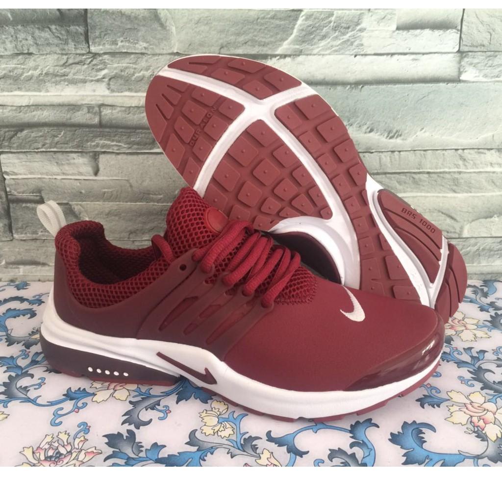 de nuevo gravedad pegar  Nike Air Presto Breathable Lightweight Running Shoes wine red | Shopee  Malaysia