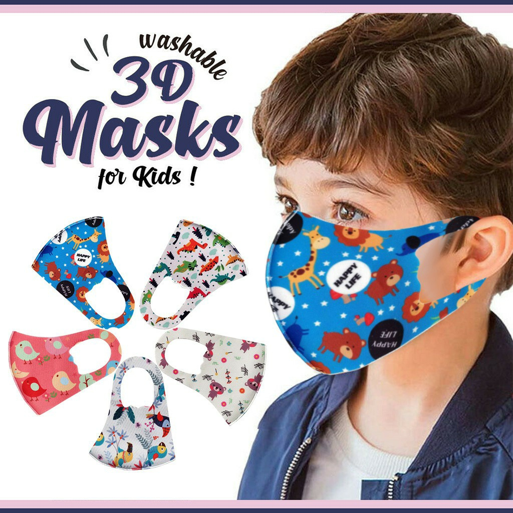 1 Children Kids Boys Girls Washable Adjustable Cartoon Lovely Mask Cover