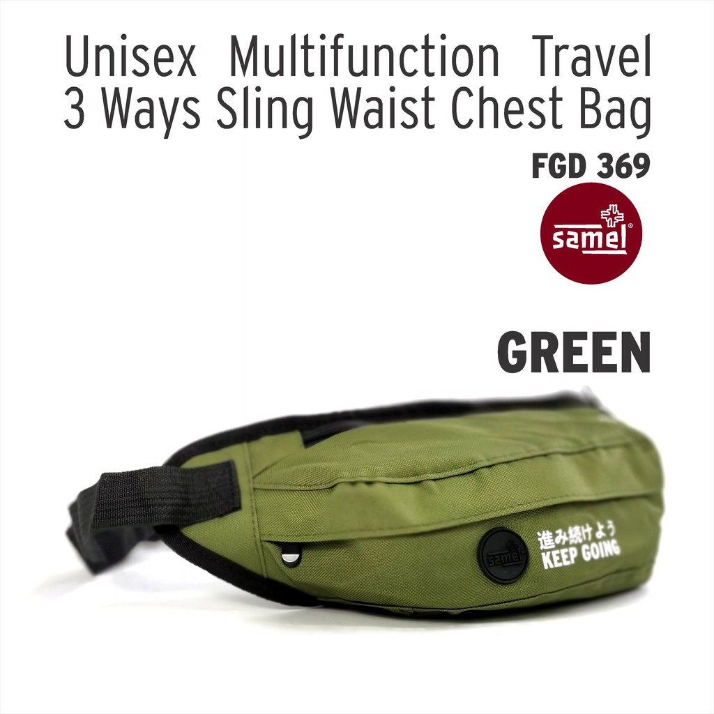 FGD 369 UNISEX MULTIFUNCTION TRAVEL 3 WAYS SLING WAIST CHEST BAG