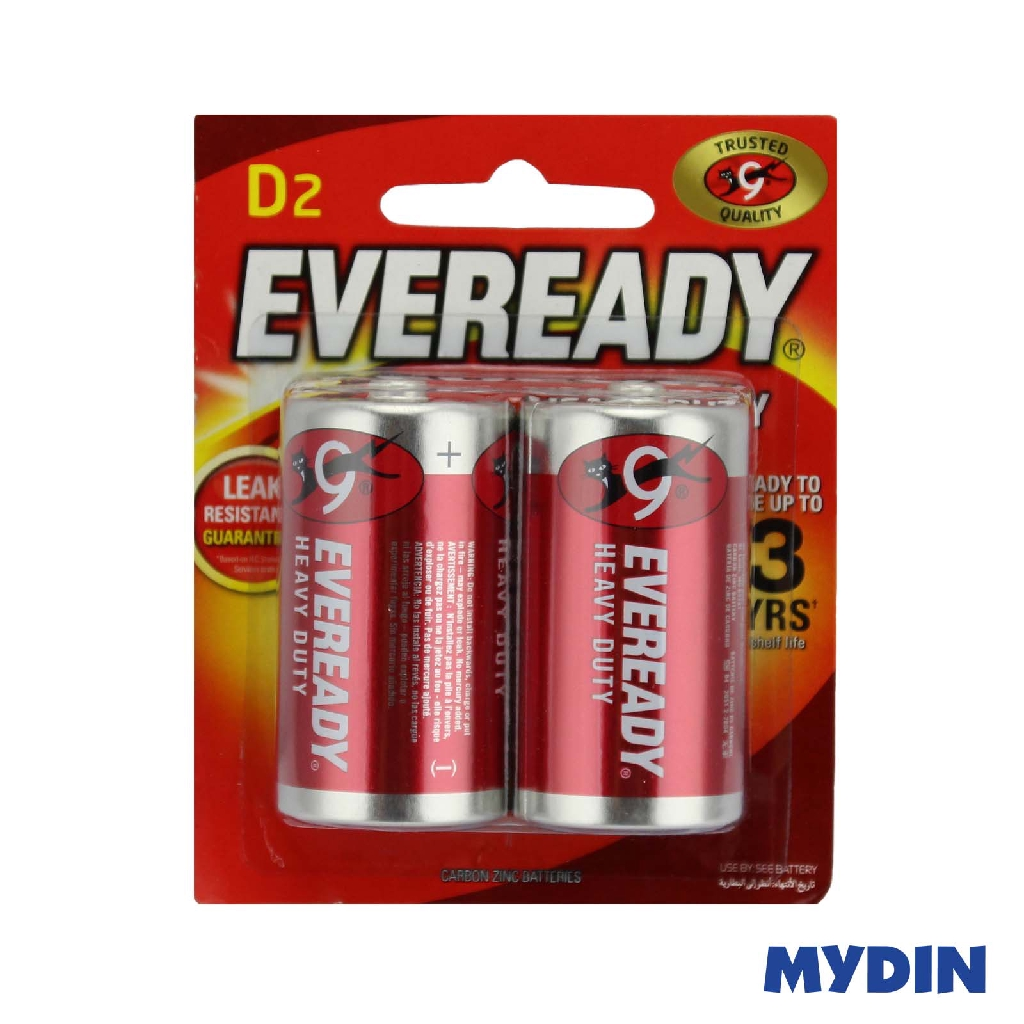 Eveready Battery Heavy Duty D (2pcs) 1050BP2M