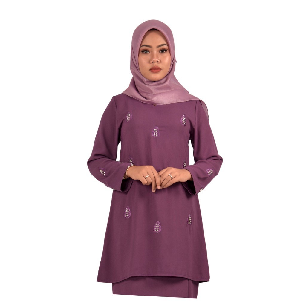 BAJU KURUNG PAHANG SURI | Baju Pesak Sulam Batu , kain Sejuk cutting muslimah