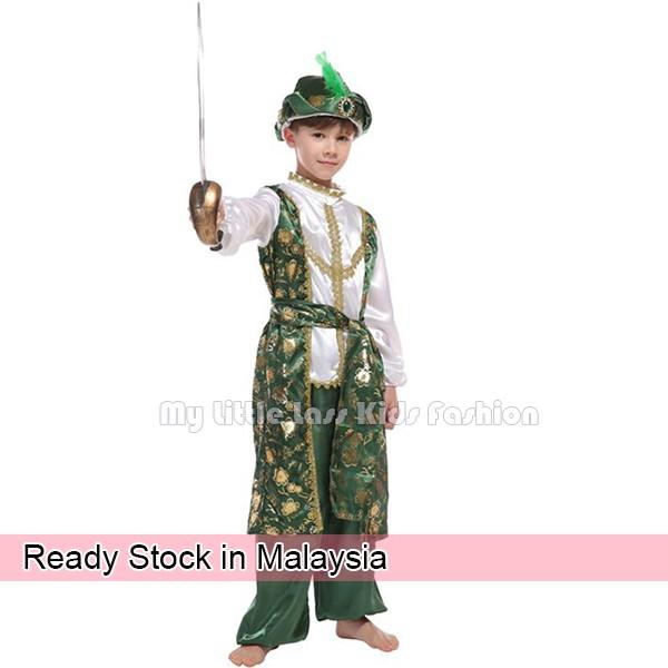 Kids Adult Arabian Warrior Costume Adam Prince Fantasia Arab 4-8y Toys for boys