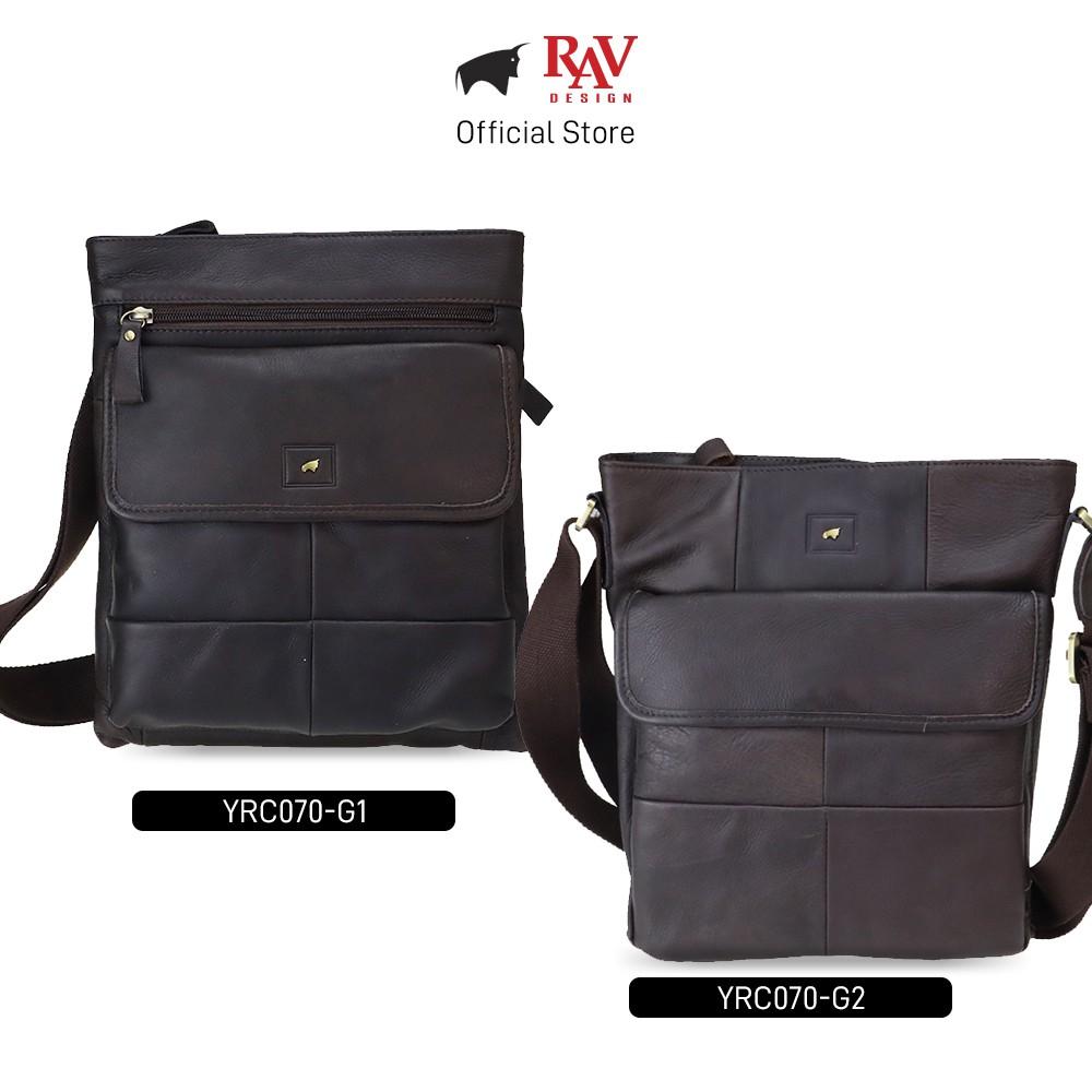 RAV DESIGN Men Genuine Cow Leather Sling Bag Brown |YRC070 Series