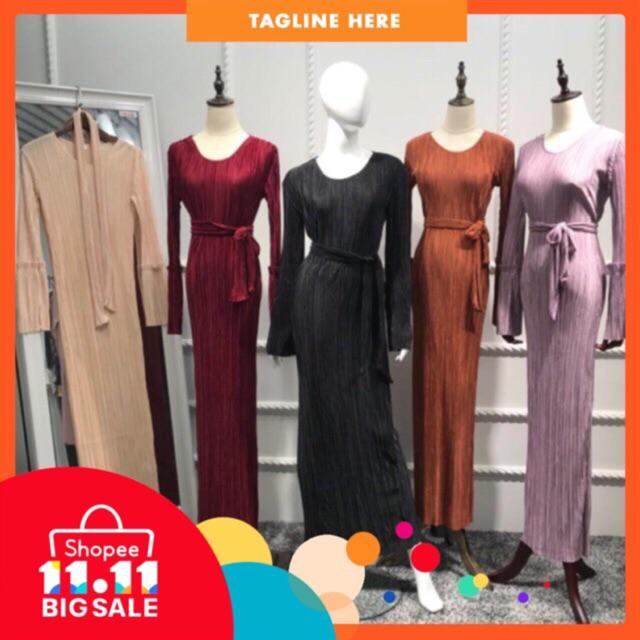 ac4b9fb2c39 Elegant Maxi Dress Pleated Abaya Party Tunic Long Robe Gowns Muslim Middle  East | Shopee Malaysia