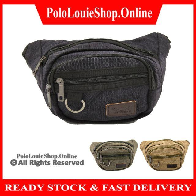 Casual Sports Chest Fanny Waist Pack Pouch Bag Canvas Travel Shoulder Bag
