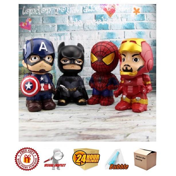 Avengers Coin Bank Spiderman/ Captain America/ Iron man/ Batman