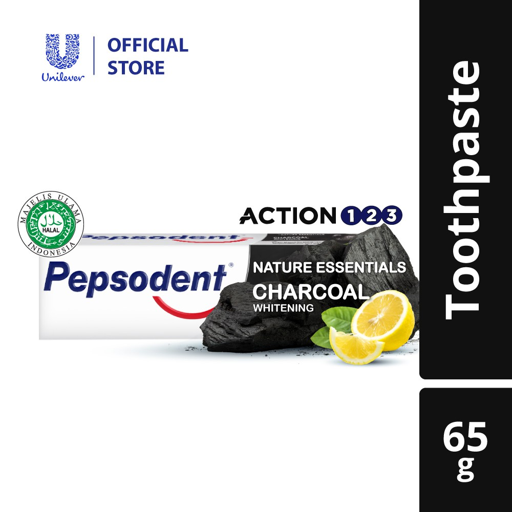 Pepsodent Action 123 Charcoal Toothpaste 65g