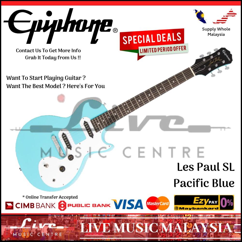 Epiphone Les Paul SL Electric Guitar, Pacific Blue