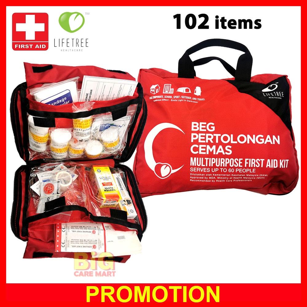 Lifetree First Aid Kit Multipurpose (102 items)