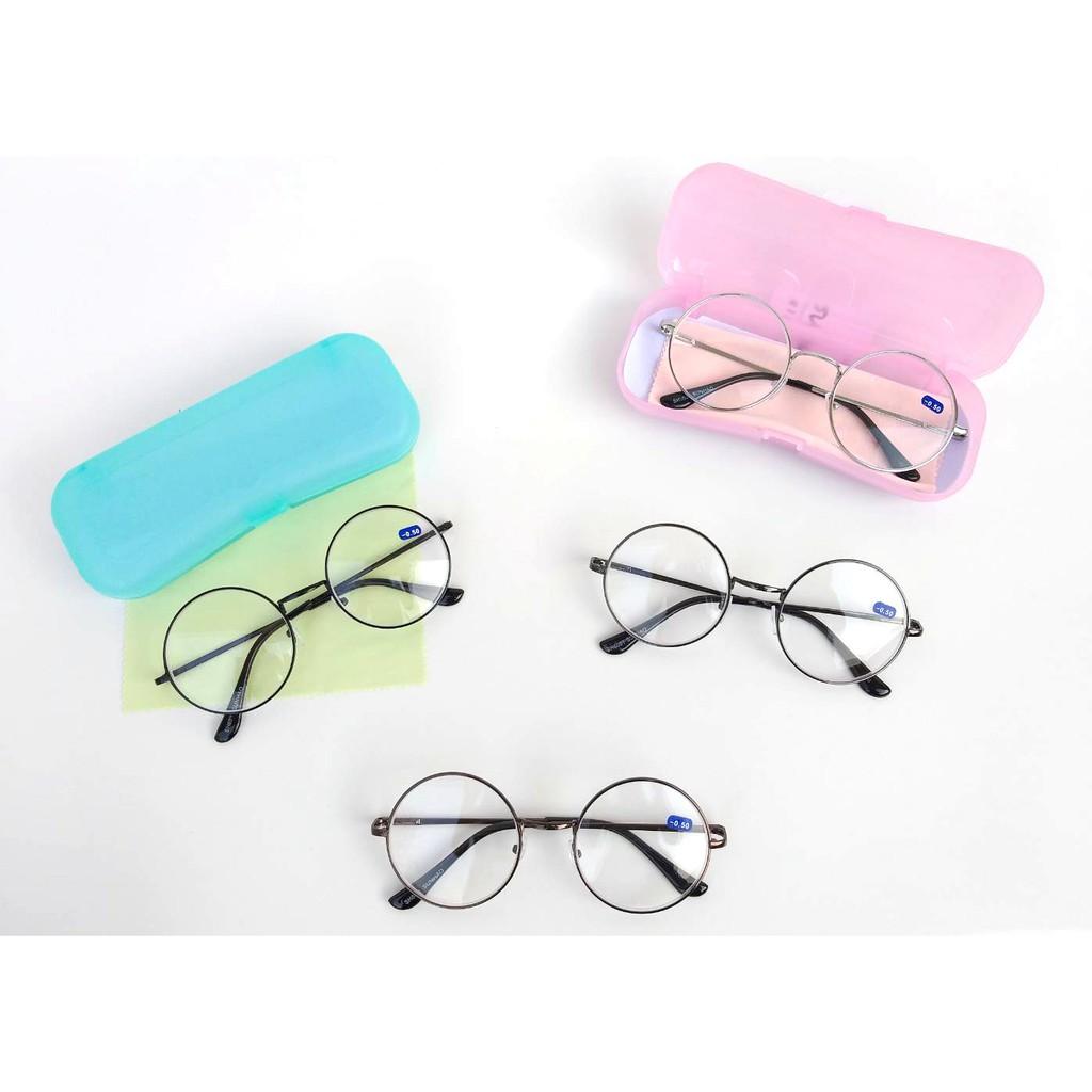 แว่นสายตาสั้น -0.5ถึง-4.0 ทรงกลม(ไม่มีขอ
