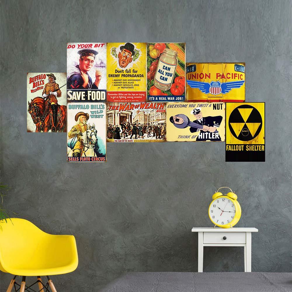 Metal Tin Sign propaganda coffee Bar Pub Home Vintage Retro Poster Cafe ART