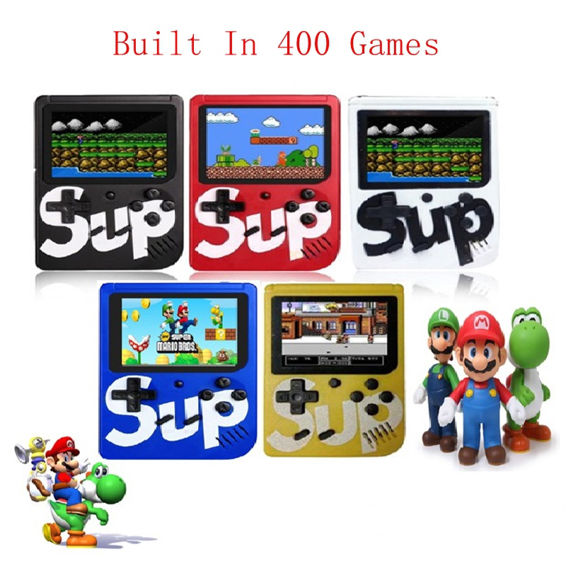 Sup Retro Classic Portable Pocket Mini Handheld Game Console controller  Game pad Built in 400 Games 8 bit 3 0 Inches