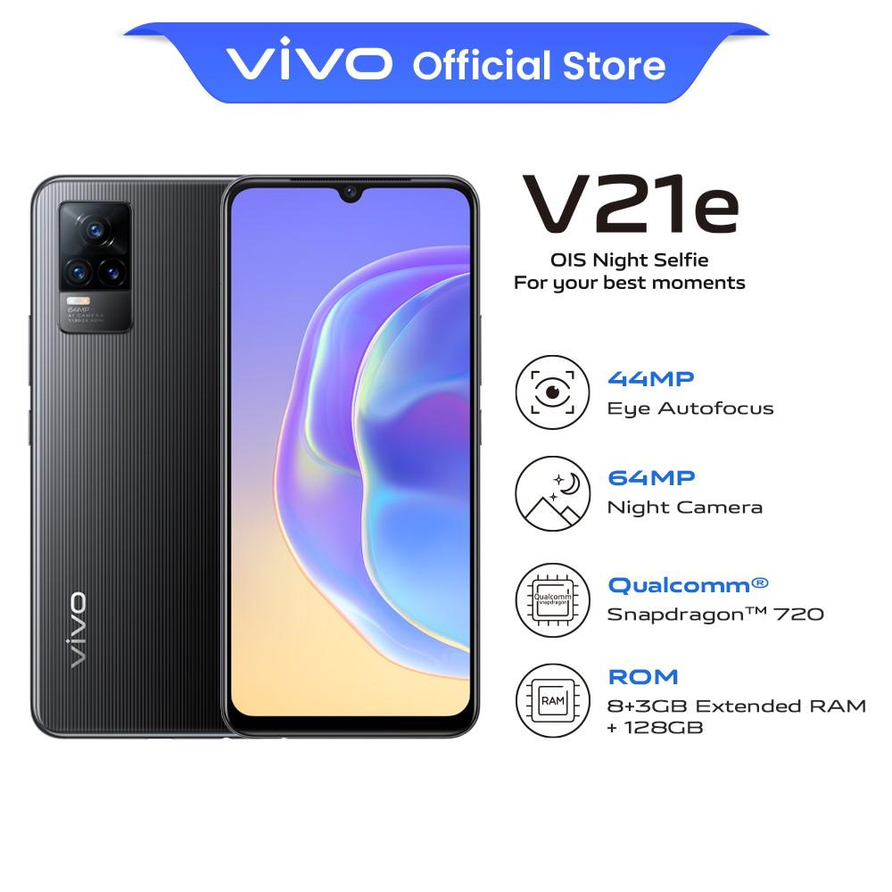 "vivo V21e Smartphone | 8GB + 128GB | 6.44"" AMOLED | 4,000mAh + 33W FlashCharge | OIS Night Selfie"