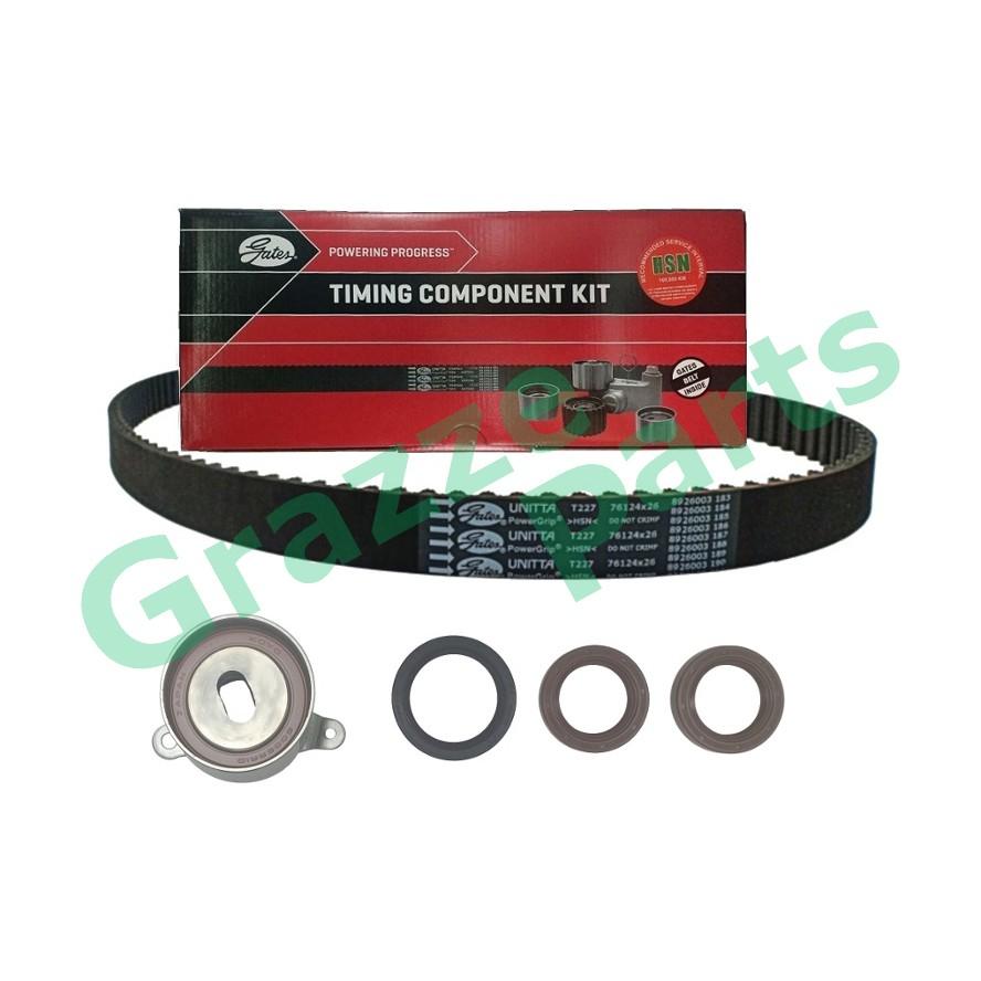 GATES Timing Belt Kit Set for Honda Civic SR4 1.6 V-Tech B16A 124RU26
