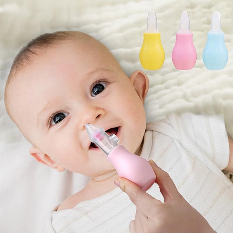 ☪RAYA BERSAMA☪】 硅胶婴儿鼻子清洁器泵婴儿吸奶器新生儿吸鼻器吸痰器鼻粘液鼻涕清洁器   马来西亚虾皮