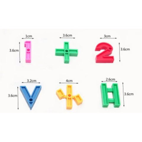 Multicolored Puzzle Blocks Building Toy for Kids ALPHABET OR NUMBER