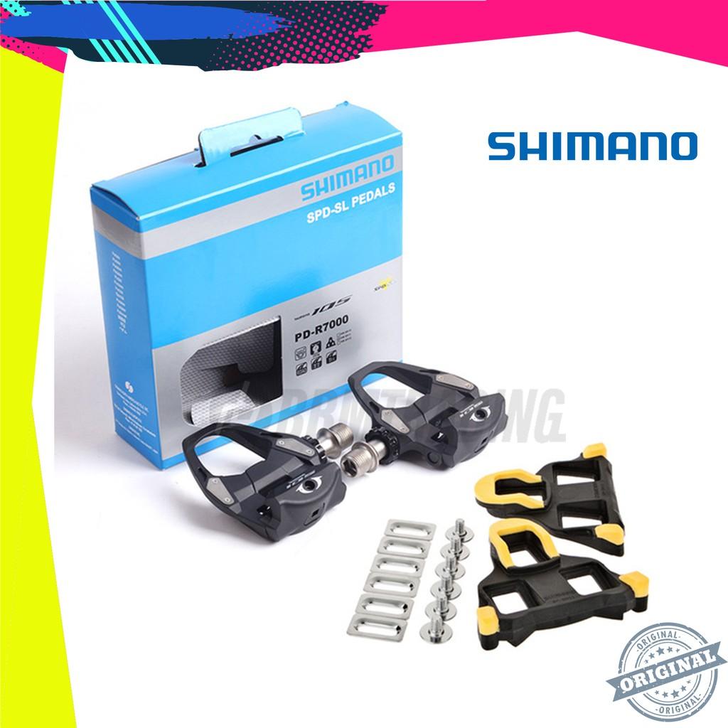 31° Release Shimano 105 PD-R7000 Carbon SPD-SL Road Bike Pedals set w// SM-SH11