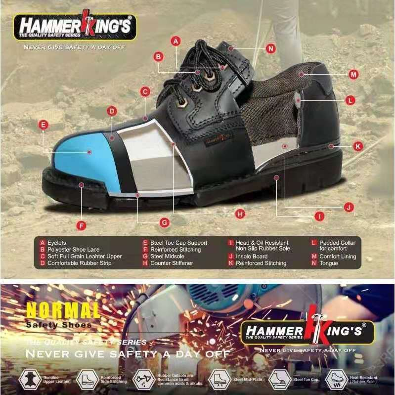 HAMMER KING'S 13009 Safety Shoes Mid Cut Outdoor Safety Boots [Malaysia ready stock]