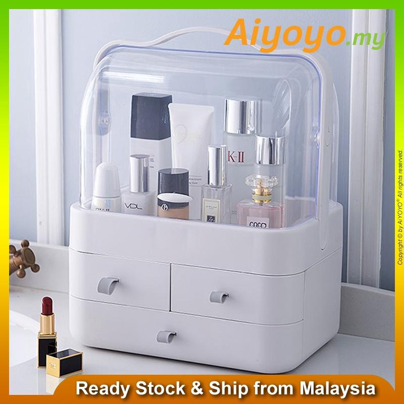 Cosmetic Storage 3 Drawers Makeup Jewellery Display Organizer Box Holder Kotak Kosmatic Kotak Simpan Makeup Box Brush Bo