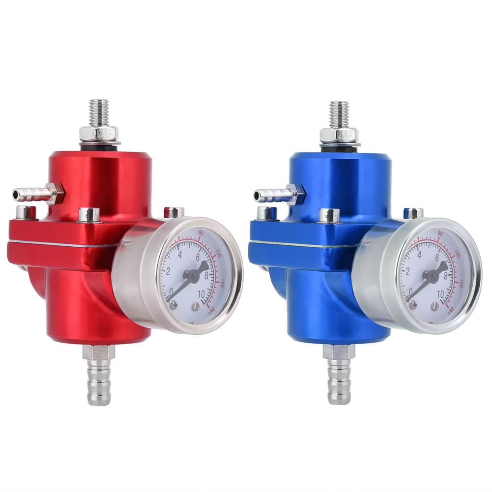 1 Fuel Pressure Regulator Oil Gauge Kit Blue Fydun Fuel Pressure Regulator Universal Aluminum Car 160psi Adjustable 1
