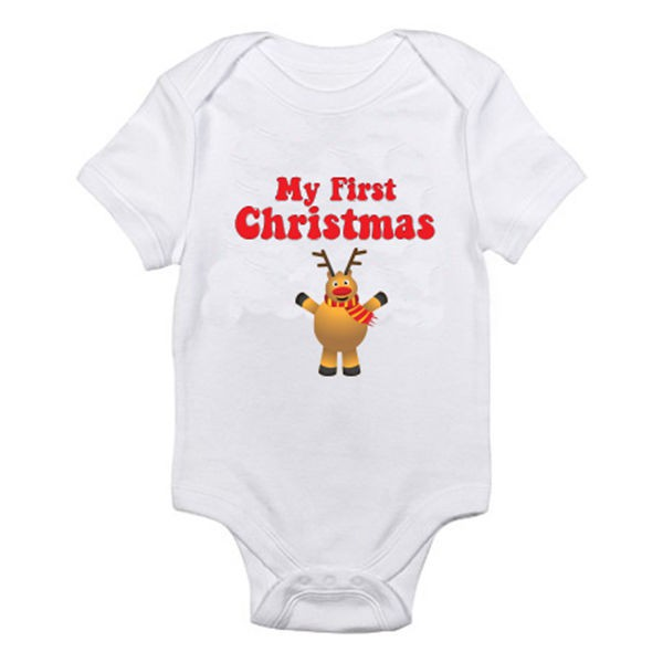 Rudolph //Novelty Themed Baby Grow Santa Suit Reindeer MY FIRST CHRISTMAS