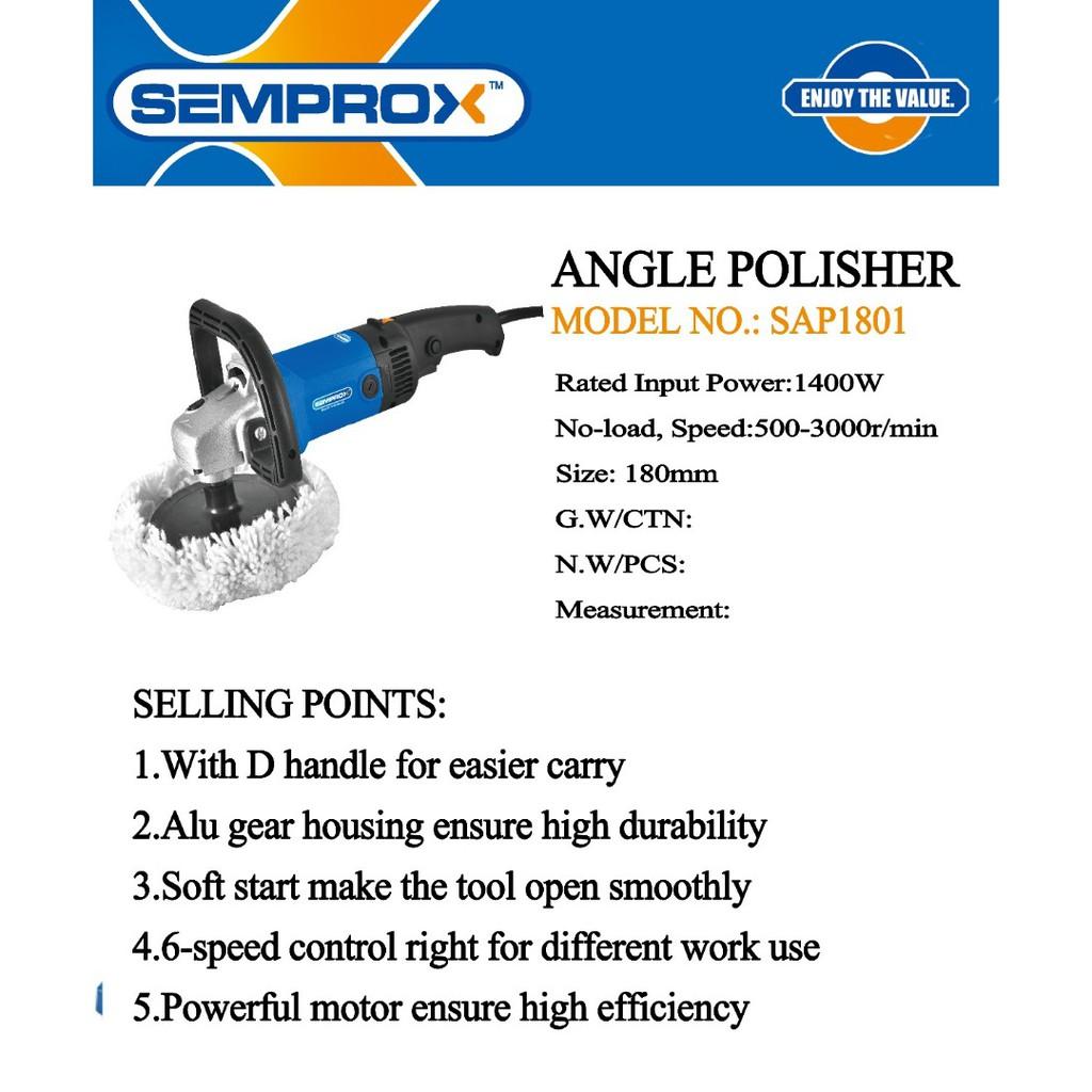 """SEMPROX SAP1801 1400W 7"""" CAR POLISHER WAXER POLISHING WAXING"""
