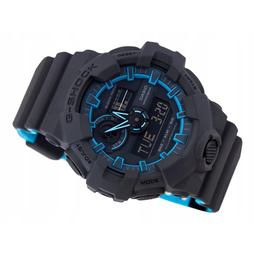 Original GA-700SE-1A2 Black Resin Strap Digital Watch/Band Men Sports Watch Casio G-Shock