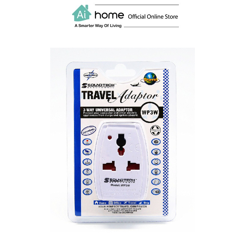 SOUNDTEOH Travel Plug WP-2W (White) with 1 Year Malaysia Warranty [ Ai Home ]