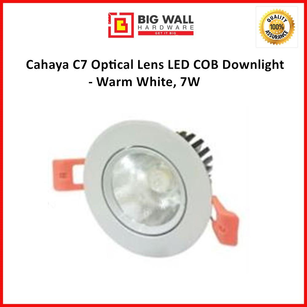 Cahaya C7 Optical Lens LED COB Downlight - Warm White, 7W