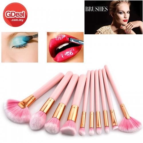 GDeal 10pcs High Quality Professional Makeup Brush Beauty Tools Set Pink (CM-2888)
