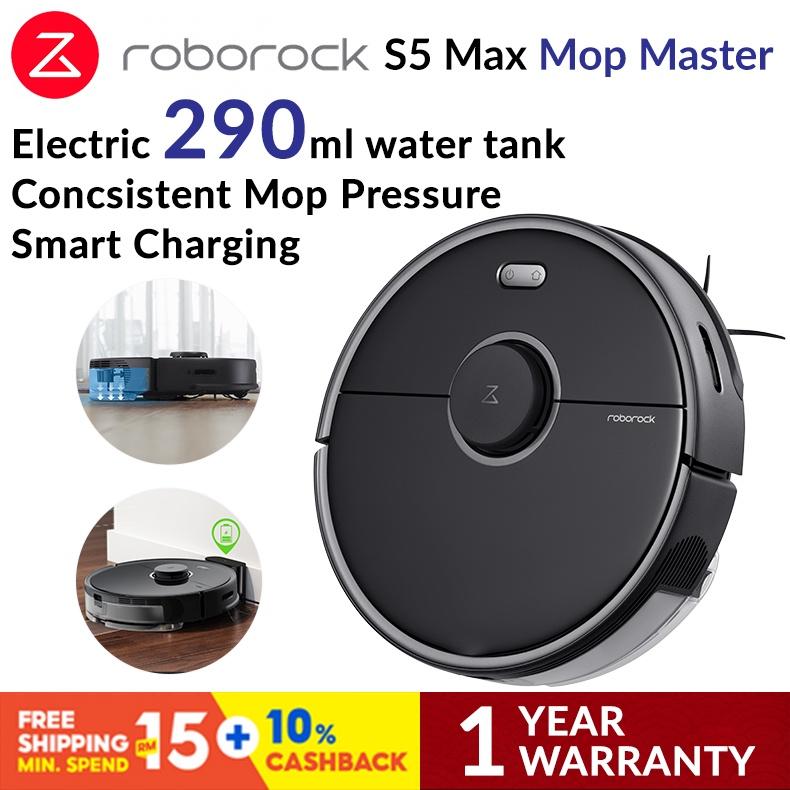 Roborock S5 Max Robotic Vacuum Cleaner - Black