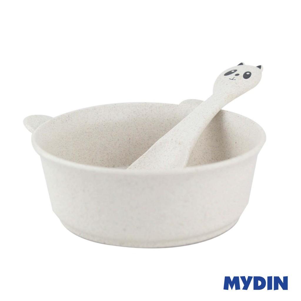 Youkejia Eco-Friendly Wheat Straw Bowl with Spoon Set (RYJS300-054)
