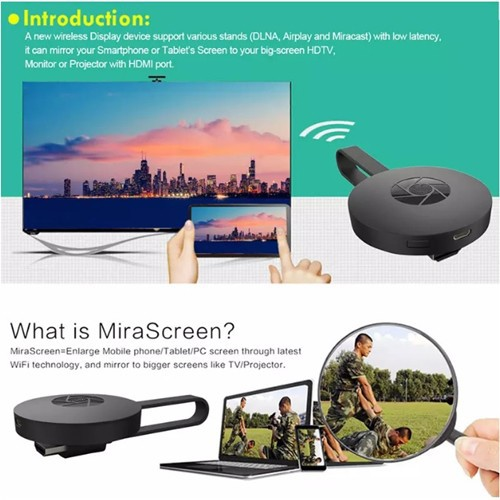 MIORANGE 2 Miracast Airplay Dlna Mirroring WiFi HDMI Dongle