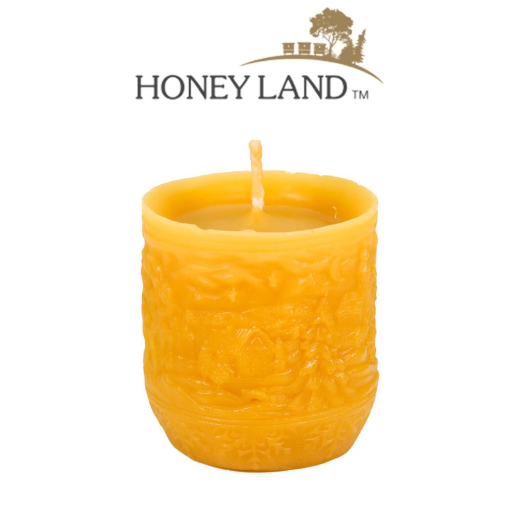 Honey Land™ Beewax Candle – Winter Landscape Cylinder (235g) /lilin wax lebah Eco-friendly Gift Home Decor [GIFT IDEA]