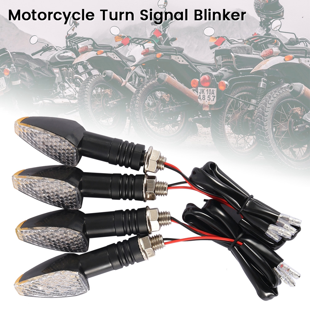 4X Carbon Turn Signal LED Dual Sport Motorcycle Dirt Bike Light Blinker Street