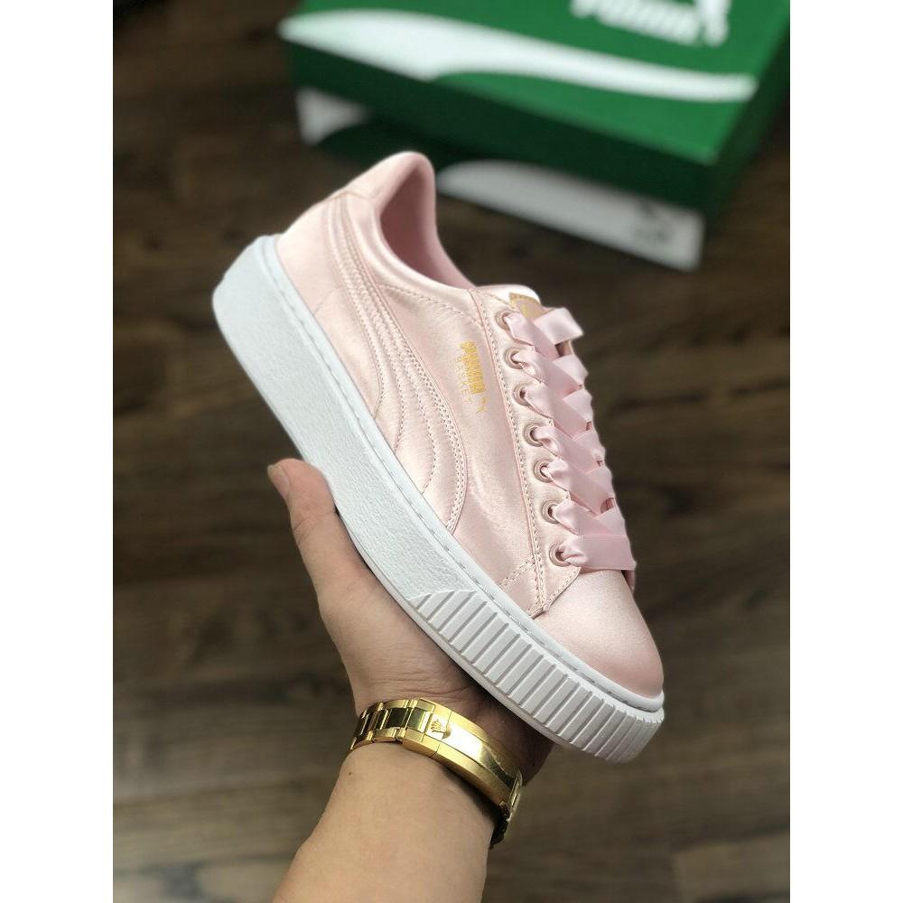 factory price 87d56 b1903 [promotion] Puma Basket Platform 2 Rihanna Silk Muffin Shoes
