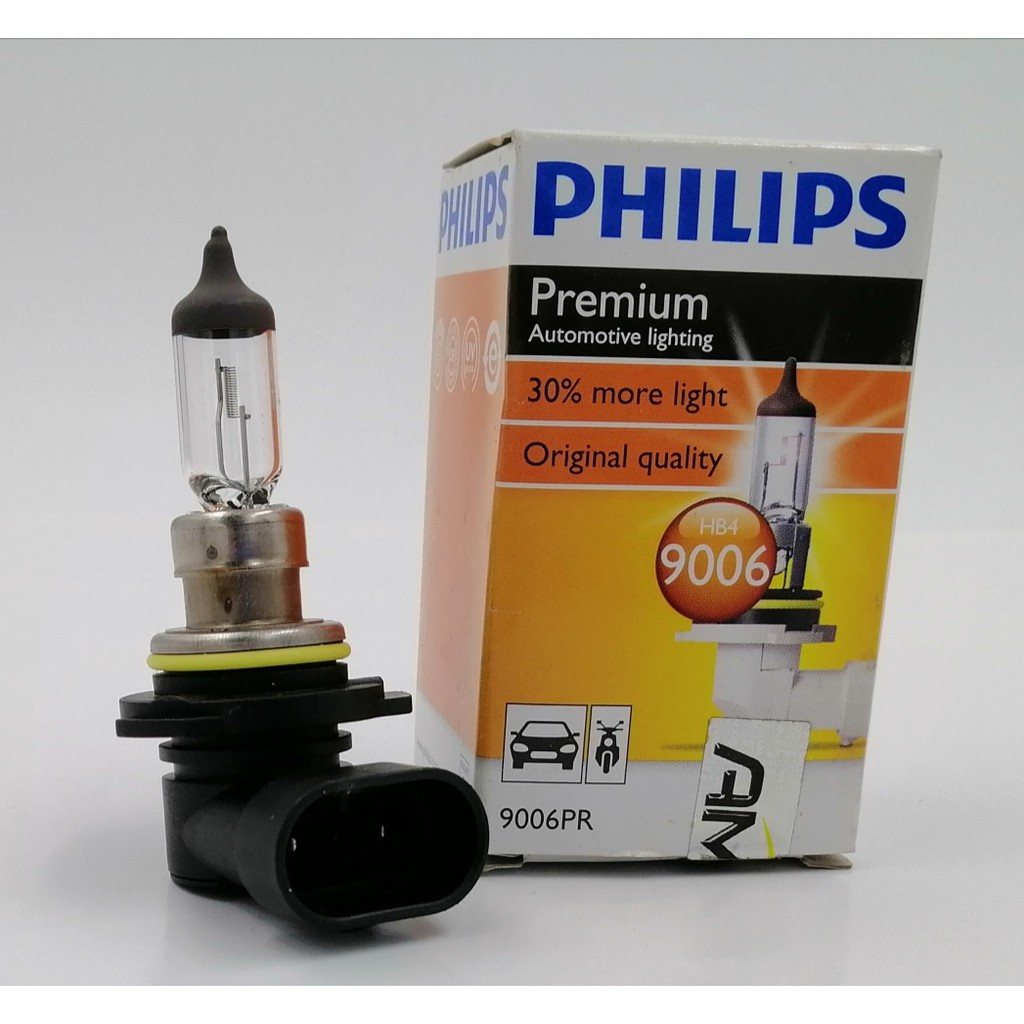 BBPHB4SWO - PHILIPS HB4 / 9006 12V 60/55W BULB ( ORG ) 30% MORE LIGHT
