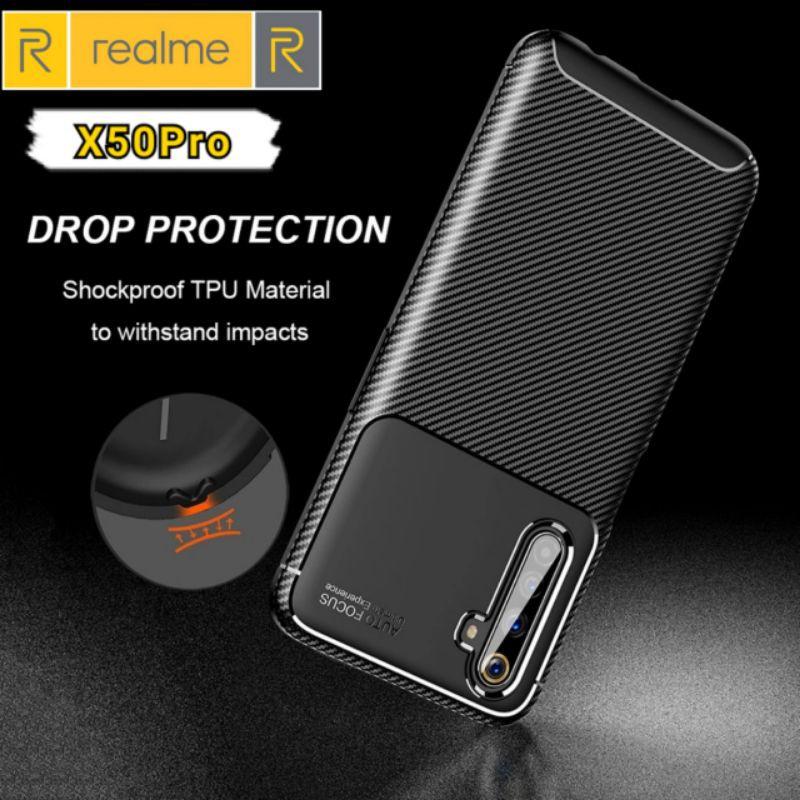 For Realme X50 X3 Super Zoom Case Carbon Fiber Soft TPU Cover Coque Matte Silicone Case for Oppo Realme 6 Pro