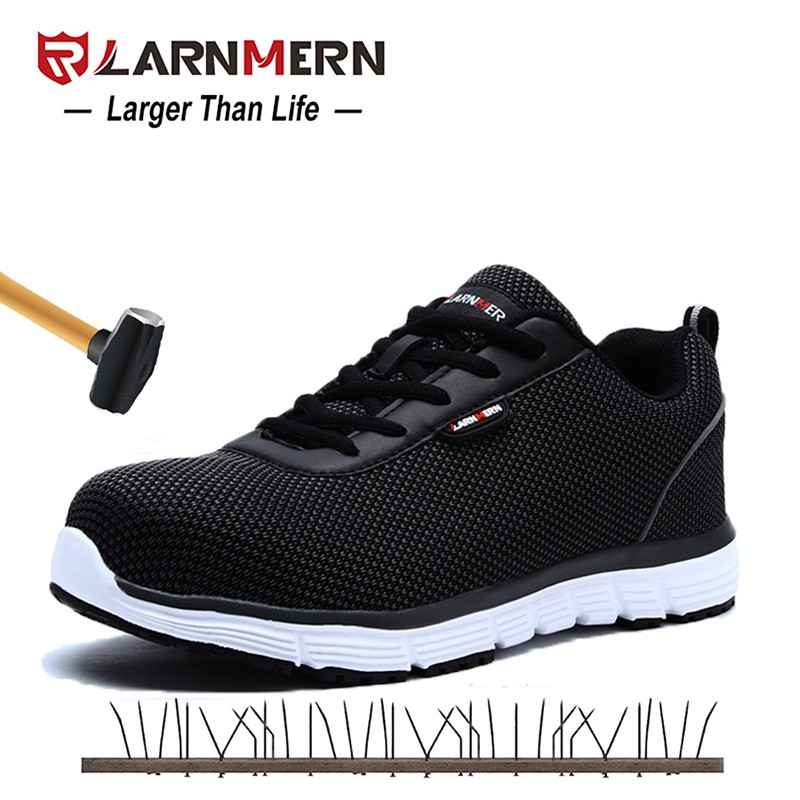 comprar online 92df0 6360a LARNMERN Men Safety Steel Toe Work Shoes Lightweight/Breathable/Casual  Footwear