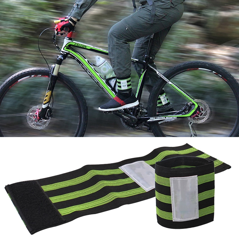 Bike Bicycle Cycling Reflective Safety Leg Pants Strap Beam Band Bottom Belt