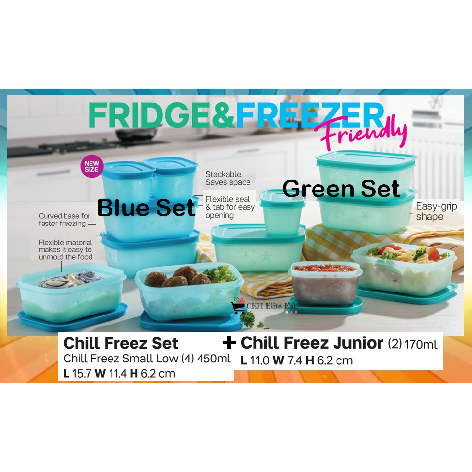 Tupperware Chill Freez Set
